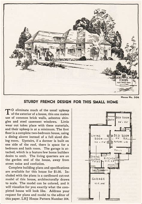 eclectic house plans 1935 french eclectic ladies home journal small house plans