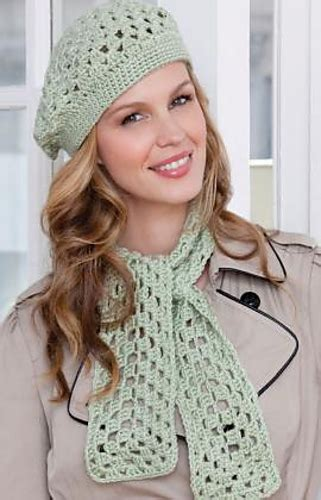 red heart yarn pattern lw2741 ravelry first beret scarf pattern by michele maks