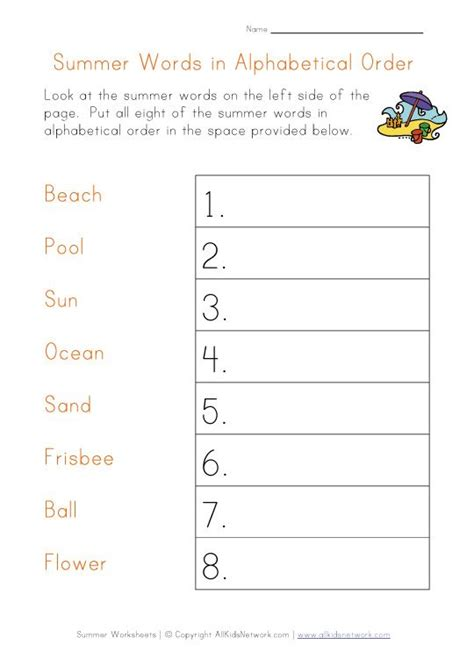 4 Letter Words In Alphabetical Order 22 best images about summer printbles on