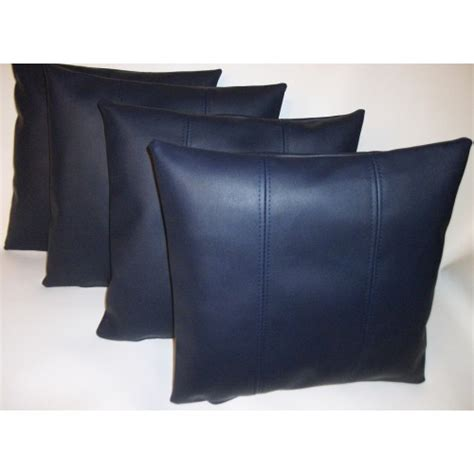faux leather couch cushion covers 4 x faux leather cushion covers in navy blue stripe design