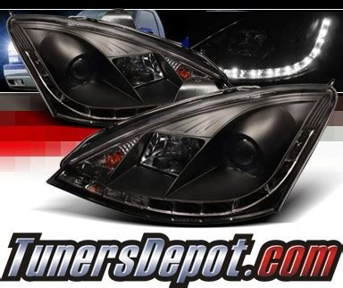 2000 ford focus zx3 headlights sonar 174 drl led projector headlights black 00 04 ford