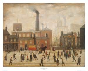 home prints ls lowry coming home from the mill