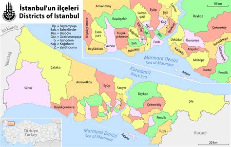 district map of map of istanbul boroughs districts and neighborhoods