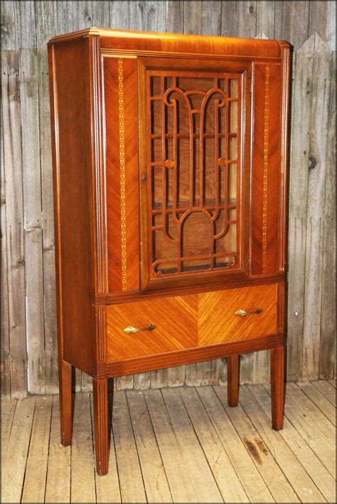 deco china cabinet deco waterfall china cabinet vtg antique curio display