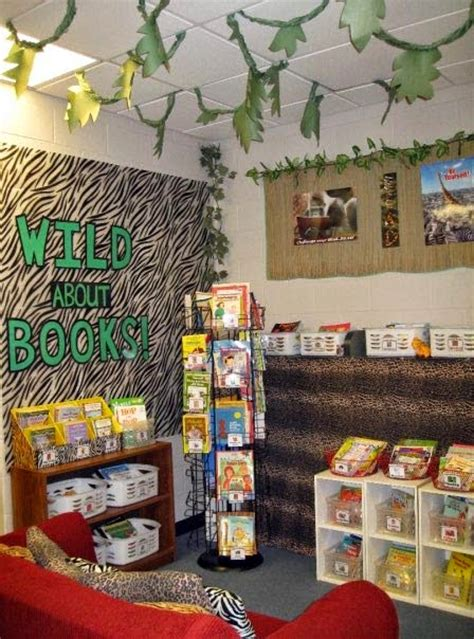 Classroom Decorating Ideas With Zebra Print Jungle Safari Themed Classroom Ideas Photos Tips And