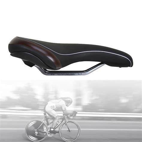 leather bike seat velo plush black pu leather bicycle seat mountain bike mtb
