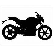 Motorbike Silhouette Vector On Road For Motorized Extreme