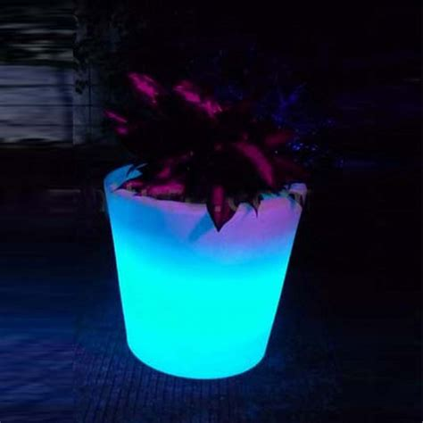 Outdoor Led Pot Lights Solar Lighted Flower Pot Lights Led Planters L Garden Landscape Vase Led Pot Lighting Outdoor