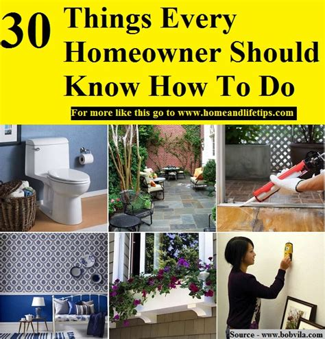 things every house should have 30 things every homeowner should know how to do home and