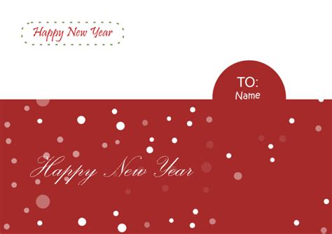 free new year card template new year card free new year card templates