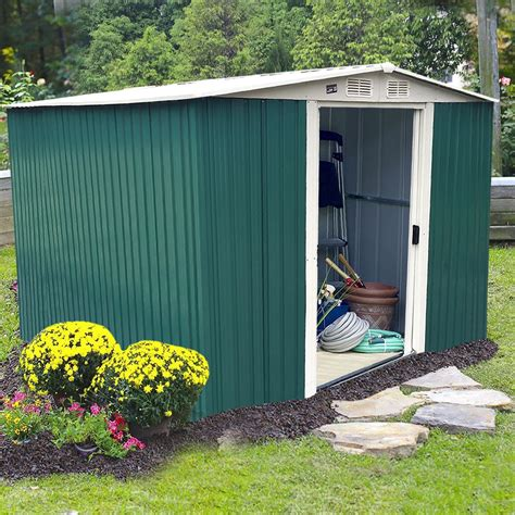 Backyard Shed Kits by 10 X8 Storage Shed Large Backyard Outdoor Garden Garage