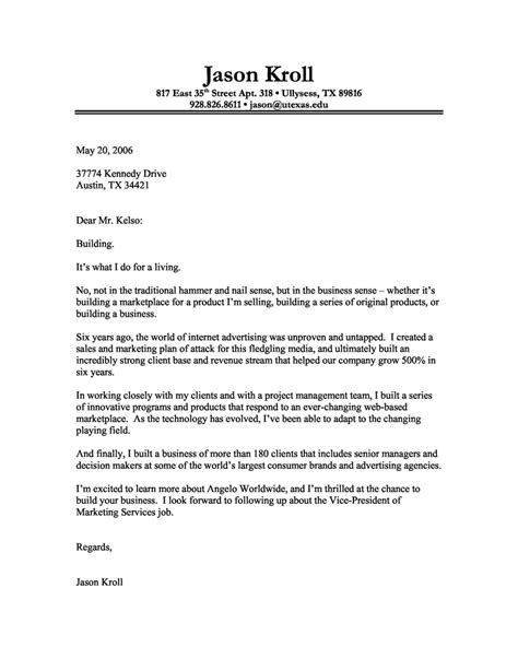 cover letter at cover letter format creating an executive cover letter