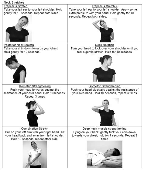neck exercises active lifestyle physiotherapy