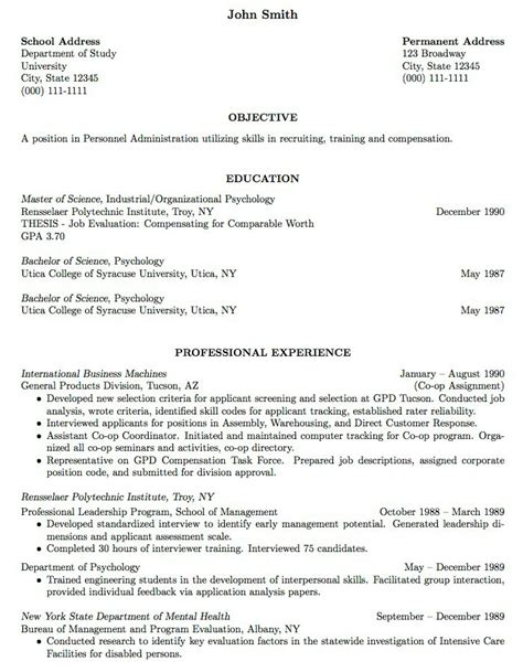 Resume Work Experience Samples   Obfuscata