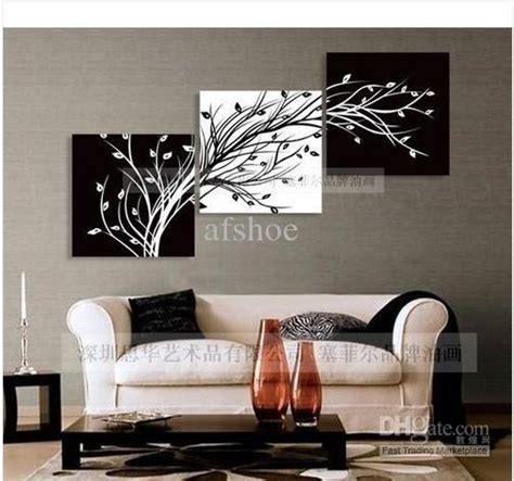wall painting trees2018 2018 modern abstract wall painting on canvas black white tree 00255 from afshoe