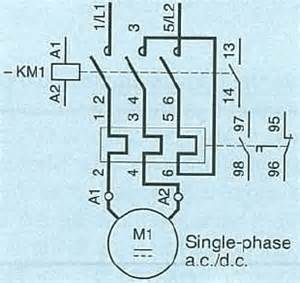 can a 3 phase wired for use in a single phase motor starter