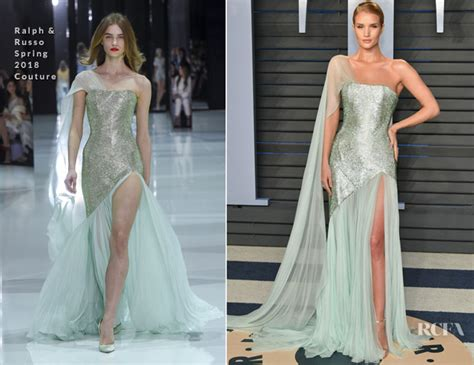 Catwalk To Carpet Kate Bosworth In Chanel Couture by Rosie Huntington Whiteley In Ralph Russo Couture 2018