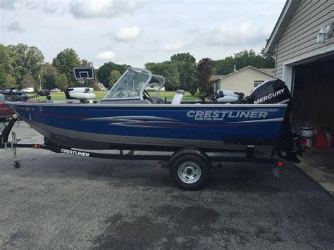 crestliner boats 1650 fish hawk crestliner fish hawk boats for sale