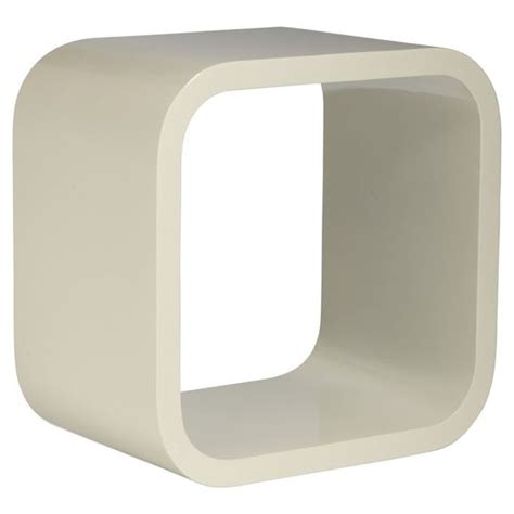 edge storage cube floating shelf white 30 x 30 x