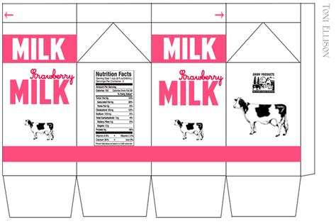 image gallery milk printables