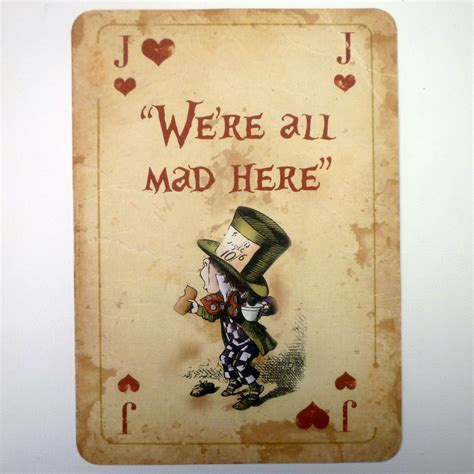 Cat Furniture by 1 Alice In Wonderland A4 Quote Giant Playing Card Prop Mad