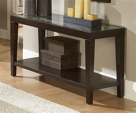 Homelegance Vincent Sofa Table With Glass Top 3299 05 Glass Top Sofa Table