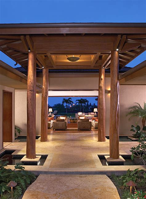 home entrance design luxury dream home design at hualalai by ownby design