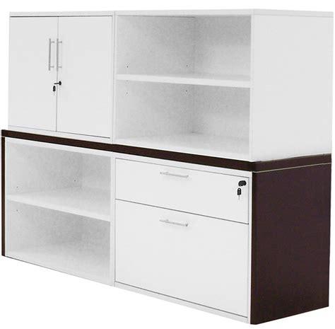 white credenza modern office structures mocha white modular storage