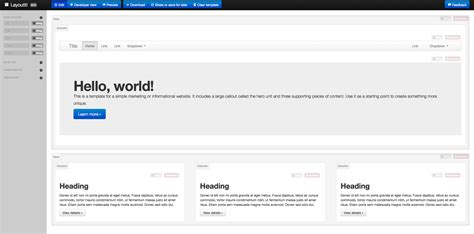 layoutit interface builder for bootstrap layoutit costruire un layout bootstrap con facilit 224 e