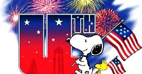 happy   july snoopy snoopy   july clip art  graphics pictures flag images