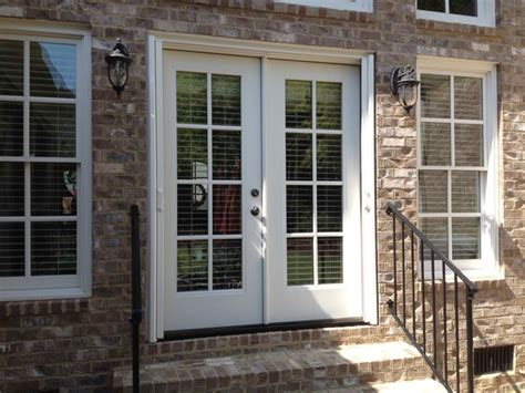 Patio Doors With Built In Blinds Reviews Double French Doors