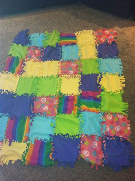 fabric crafts fleece knot a tie blanket great for scrap fleece donate it to