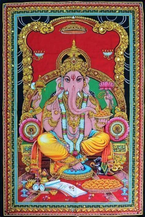 sacred material the of the tapestries of the cathedral of our of the books lord ganesh 43 x 30 tapestry
