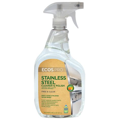 ecos pro water based stainless steel cleaner polish