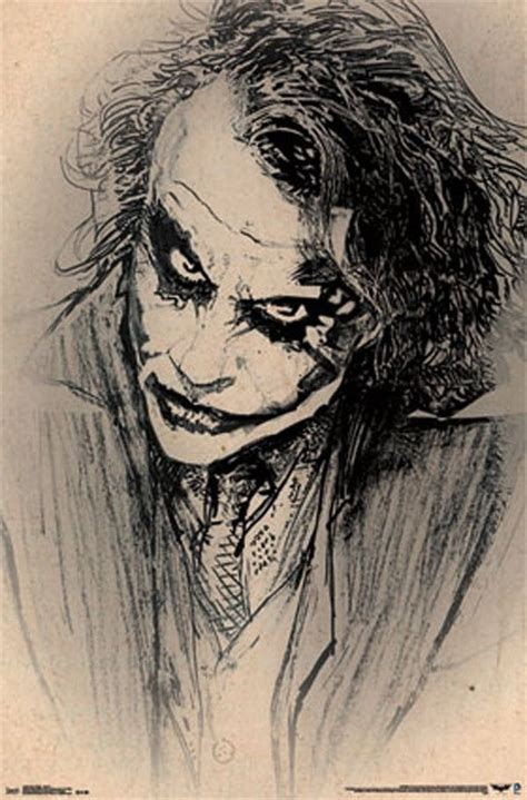 Jim Joker Gift 1fg Black dc comics batman joker heath ledger sketch