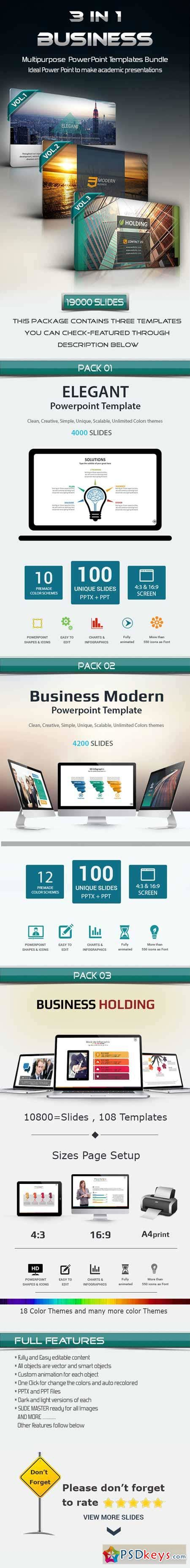 Template Powerpoint 4 In 1 Business Powerpoint Bundle 3 in 1 business powerpoint template bundle 11476898 187 free