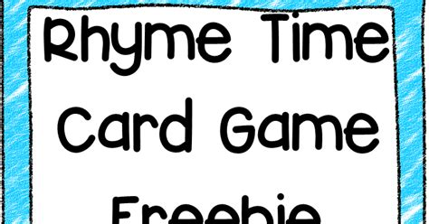 rhyming board game free printable no time for flash cards classroom freebies too rhyme time card game