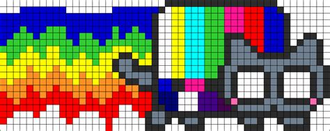 tripped out nyan cat perler bead pattern bead sprites