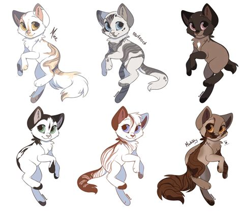 cat adoptables line art warrior cat adoptables 2 closed by moietea on deviantart