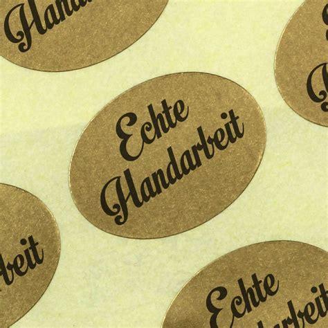 Etiketten Rolle Gold by Etiketten Aufkleber Echte Handarbeit Gold Haftpapier Auf Rolle