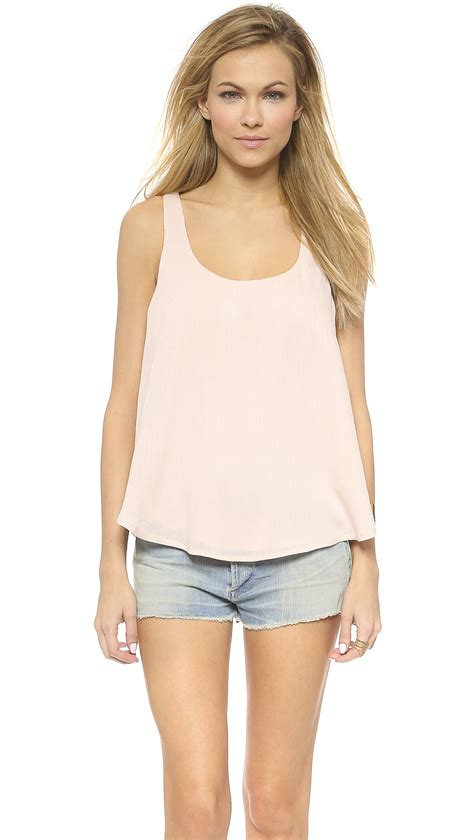 Lace Cami lyst lace cami in pink