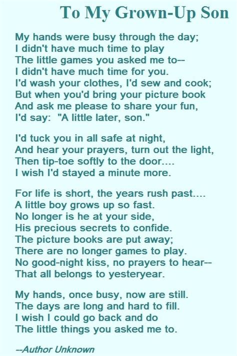 a biography about my mother a mother s love poem for her son poems pinterest