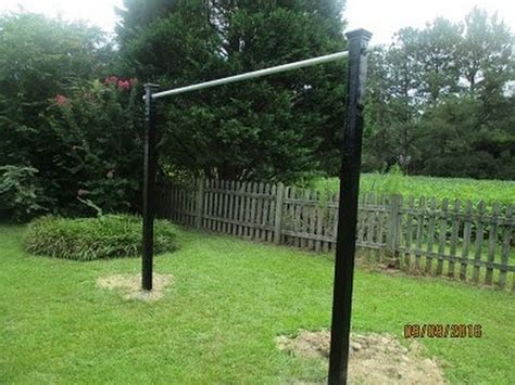 build a backyard pull up bar how to build a pull up bar outside youtube
