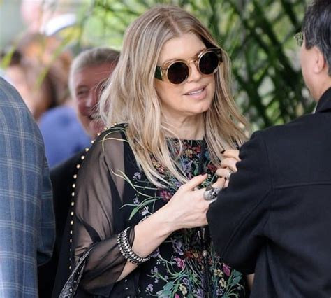 Fergie And Church Do It Right by How To Wear A Flower Print Silk Caftan Dress Like Fergie