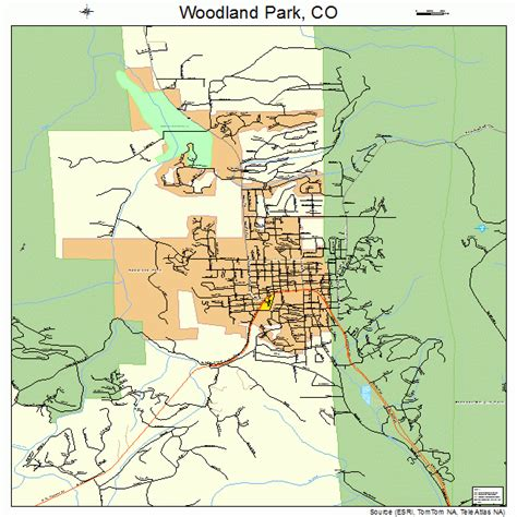 map of park county colorado woodland park colorado map 0886090
