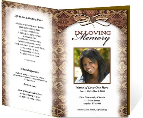 13 Best Funeral Program Templates Images On Pinterest Free Stencils Resume Templates And Obituary Template Funeral Program
