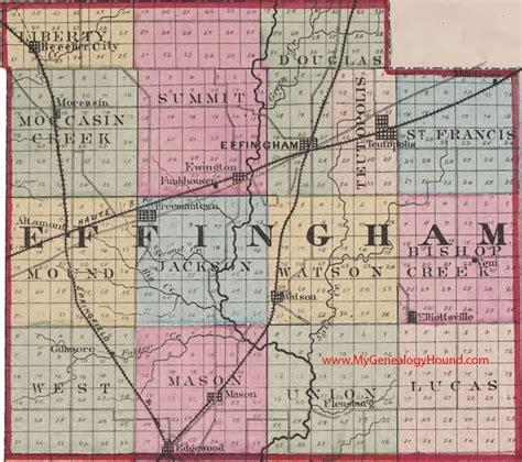 Lake County Il Marriage Records Effingham County Illinois 1870 Map Teutopolis