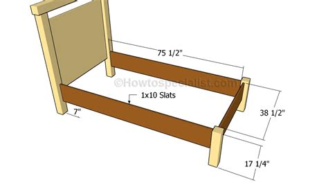 Twin Bed Plans Howtospecialist How To Build Step By Bed Frame Construction