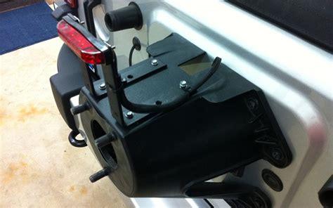 jeep jk third brake light cheap mod relocates jeep wrangler third brake light into tire