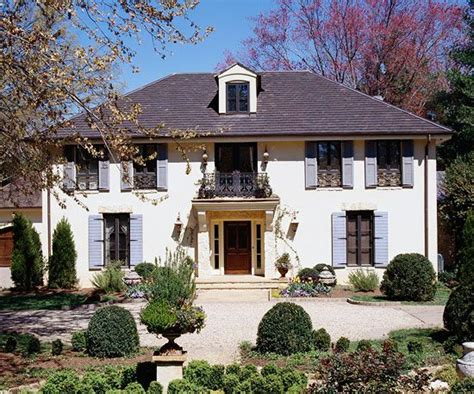 french chateau style home in stucco cast stone country french style home ideas french country homes